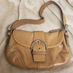 Tan leather Coach Bag